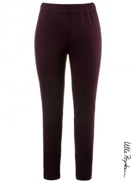 Pantalon stretch pourpre