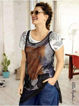 Top long Ulla Popken transparent