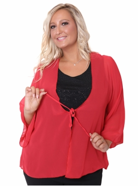 Cardian voile rouge