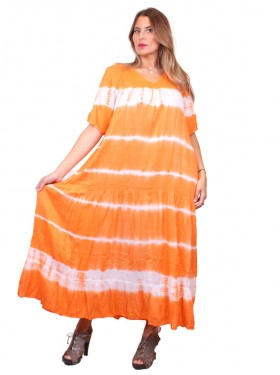 Robe Tie & Dye orange