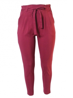 Pantalon crayon bordeaux