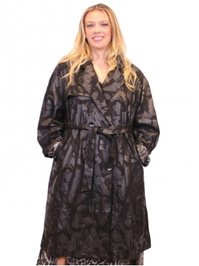Manteau trench long