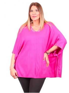 Tunique-poncho rose