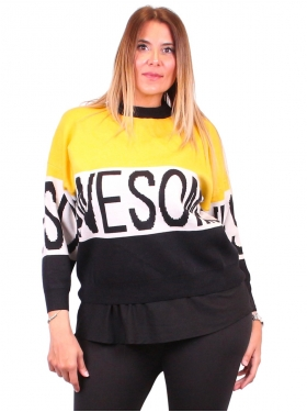 "Sweat jaune et noir ""Awesome"""