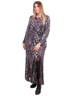 Robe fendue motif jungle