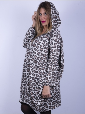 Veste oversize, imprimé jungle
