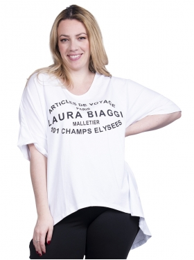 T-shirt blanc destructuré