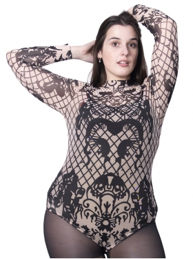 Body taupe motifs baroques